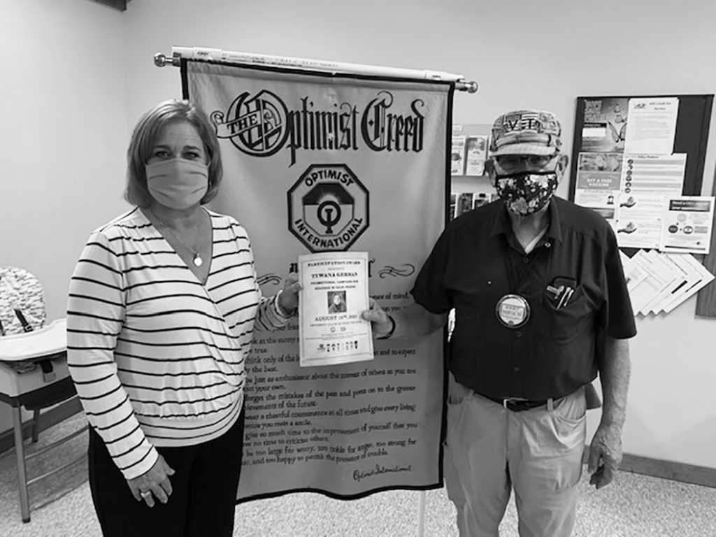 August 17, the Sauk Prairie Optimist Club met in person and masked at the 6:8 Inc. building in Sauk City. Tywana German, Executive Director of the...
