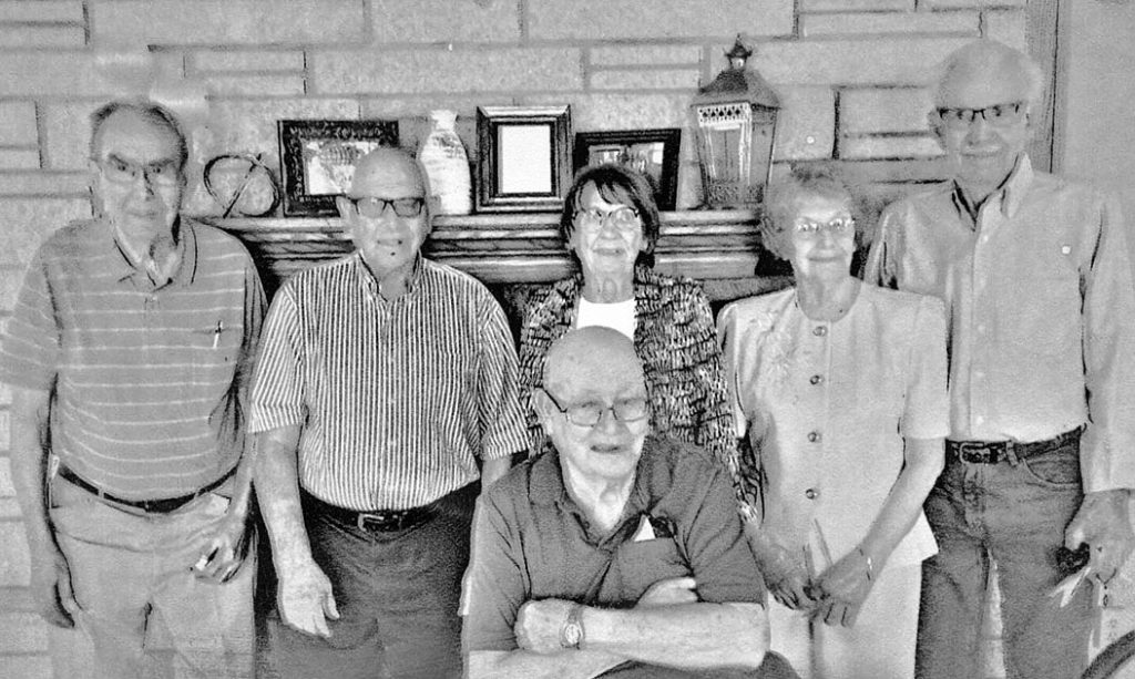 Remembering 69 years ago, the Prairie du Sac High School class of 1952 met on Sept. 19th, 2021 at LWCC. Those who attended were, left to right, Art...
