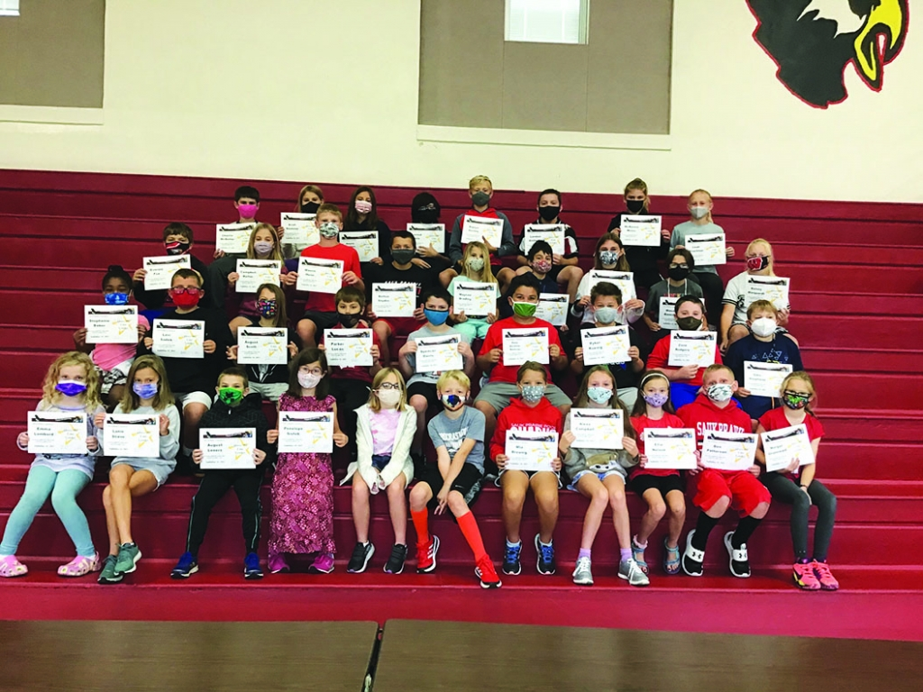 """The September Above The Line theme at Grand Avenue School was """"Caring."""" The students listed below received awards from their classroom..."""
