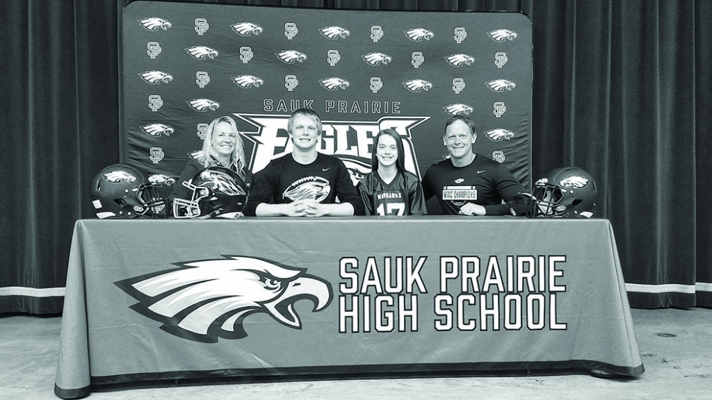 "Sauk Prairie senior Parker Breunig will attend UW-Whitewater this fall to study Business and compete in football for the Warhawks. ""They'..."